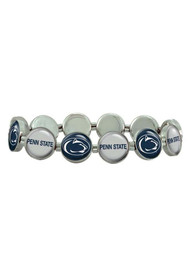 Penn State Nittany Lions Womens Silver Stretch Bracelet - White