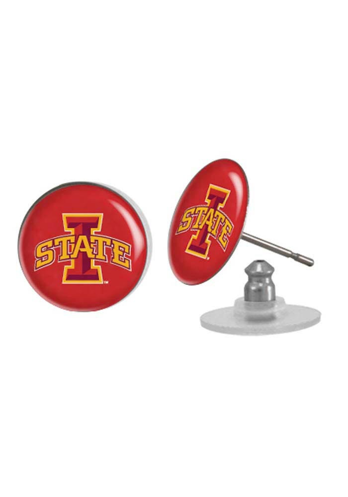 Iowa State Cyclones Domed Post Womens Earrings - Image 1