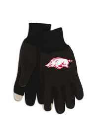 Arkansas Razorbacks Tech Gloves - Grey