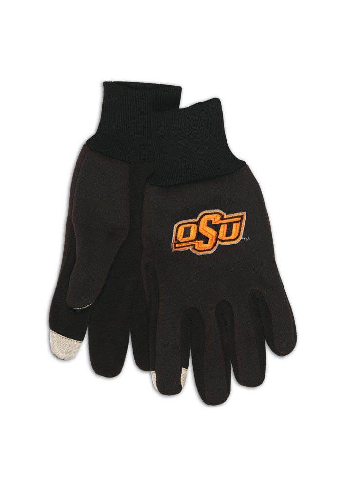 Oklahoma State Cowboys Tech Mens Gloves - Image 1