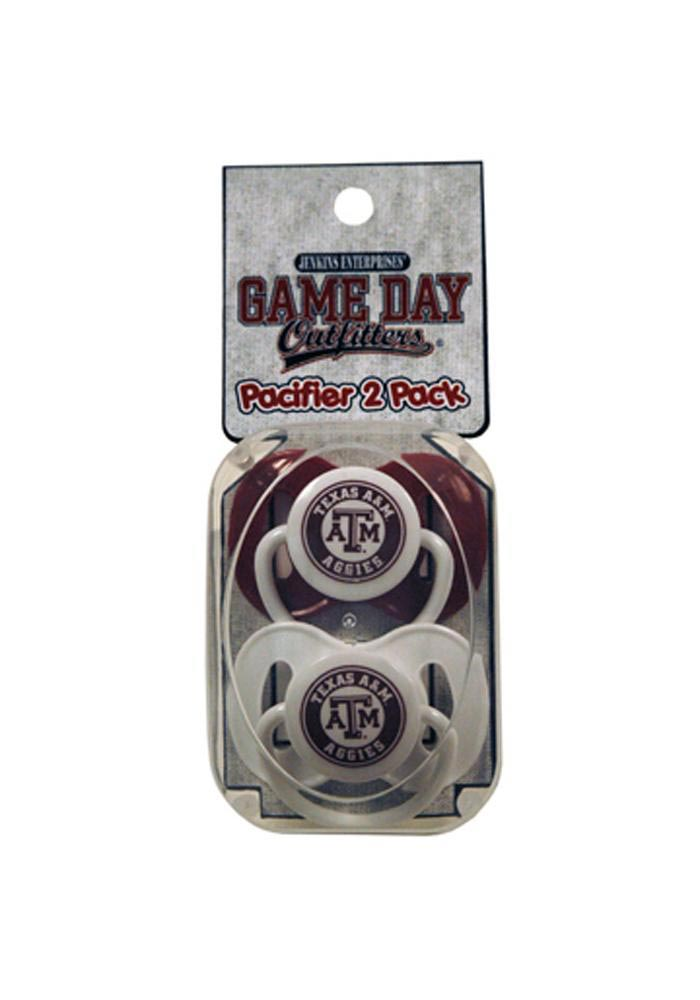 Texas A&M Aggies 2 Pack Baby Pacifier - Image 1