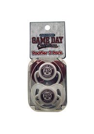 Texas A&M Aggies Baby 2 Pack Pacifier - White