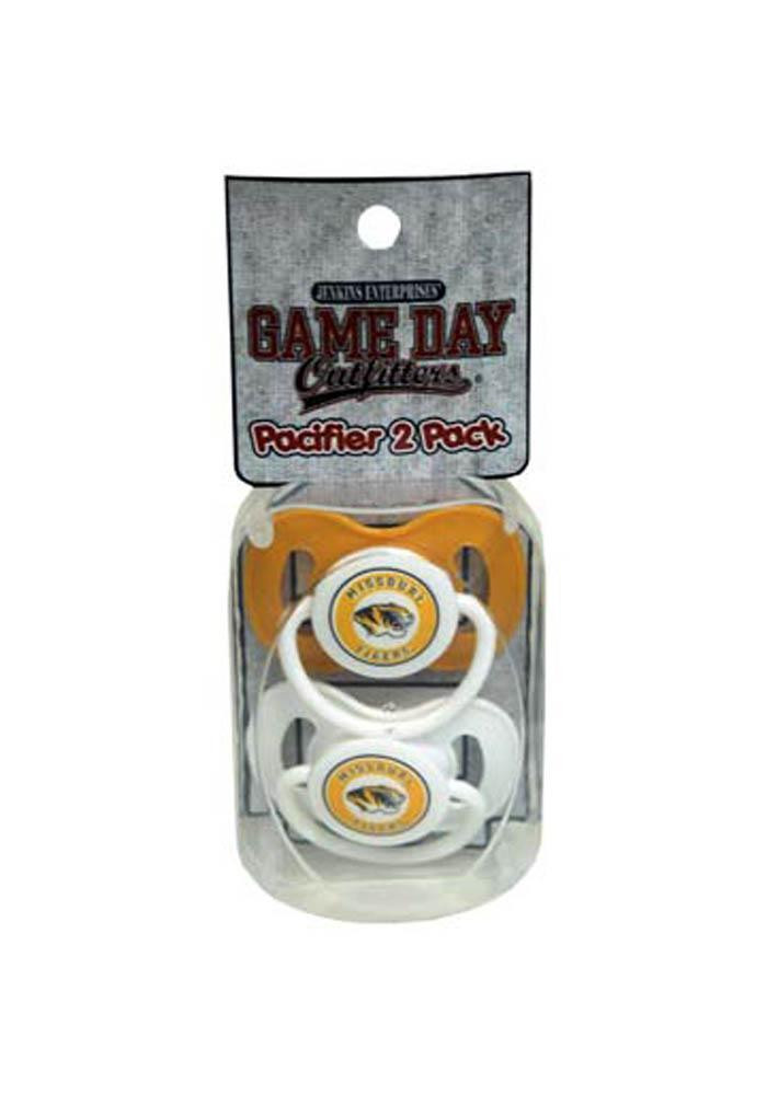 Missouri Tigers 2 Pack Baby Pacifier - Image 1