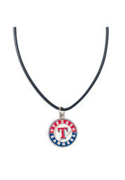 Texas Rangers Womens Leather Necklace - Black