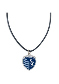 Sporting Kansas City Womens Leather Necklace - Navy Blue