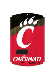 Cincinnati Bearcats 11X17 Wood Sign