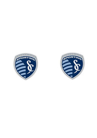 Sporting Kansas City Womens Post Earrings - Grey