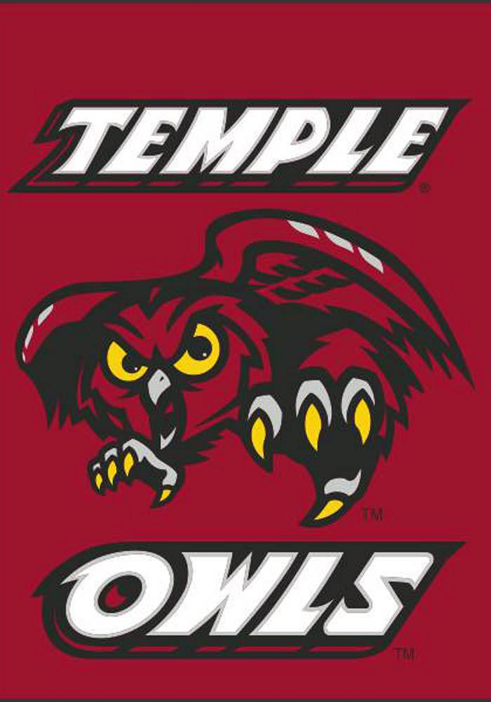 Temple Owls 30x40 Double Sided Silk Screen Banner - Image 1
