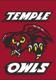 Temple Owls 30x40 Double Sided Silk Screen Banner