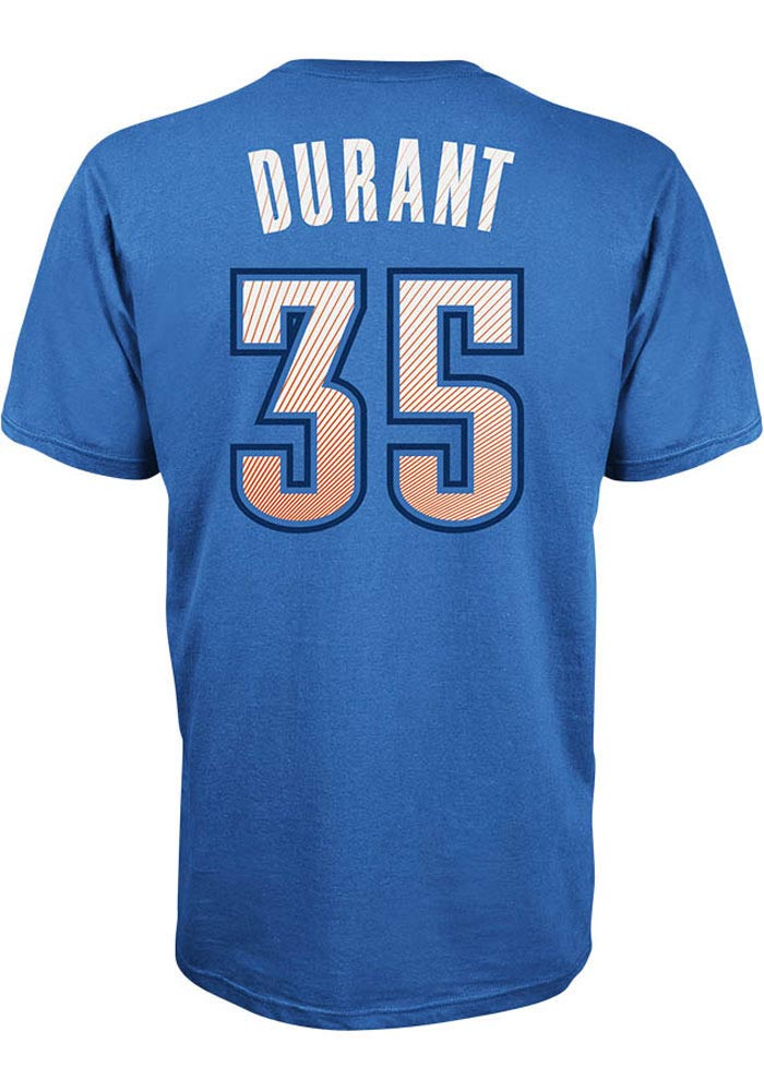 Kevin Durant Oklahoma City Thunder Mens Blue Player Short Sleeve Player T Shirt - Image 1