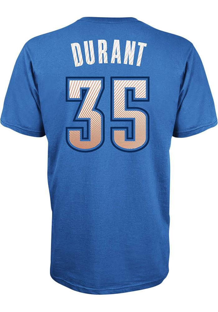 Kevin Durant Oklahoma City Thunder Mens Blue Player Short Sleeve Player T Shirt - Image 2