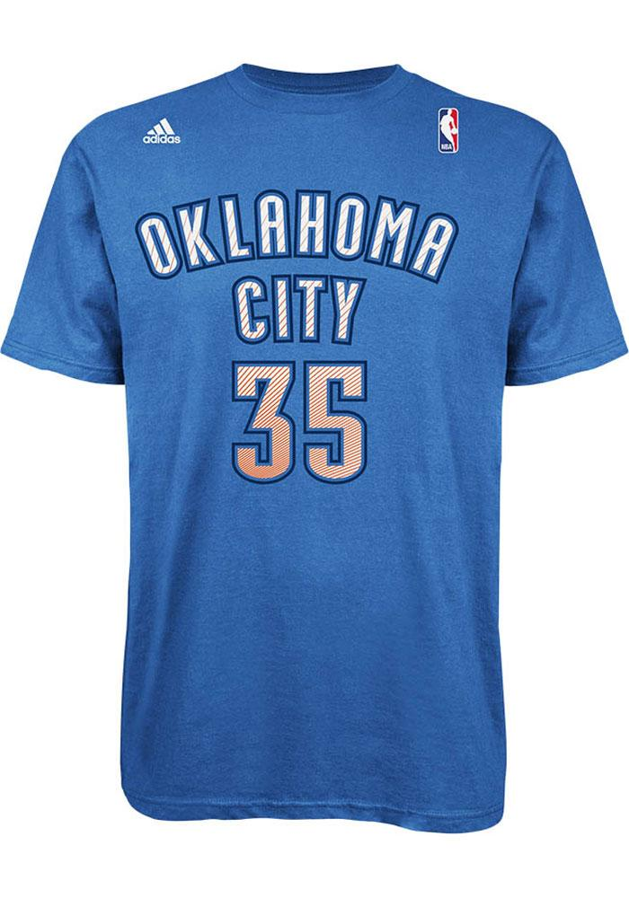 Kevin Durant Oklahoma City Thunder Mens Blue Player Short Sleeve Player T Shirt - Image 3