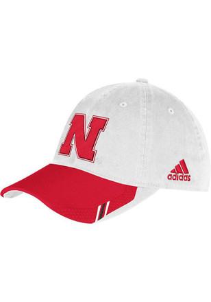 Adidas Nebraska Cornhuskers Mens White 2013 Coach`s Slouch Adjustable Hat