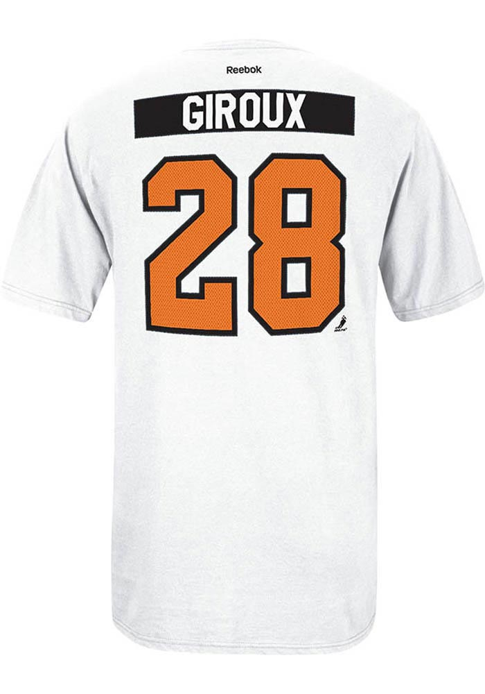 Claude Giroux Philadelphia Flyers Mens White Player Short Sleeve Player T Shirt - Image 1