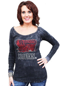 Gameday Couture Oklahoma Sooners Juniors Sequin Thermal Scoop Neck Tee