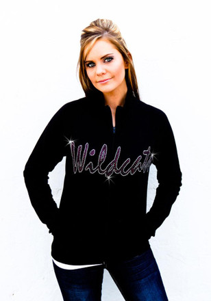 Gameday Couture K-State Wildcats Womens Cadet Black Track Jacket