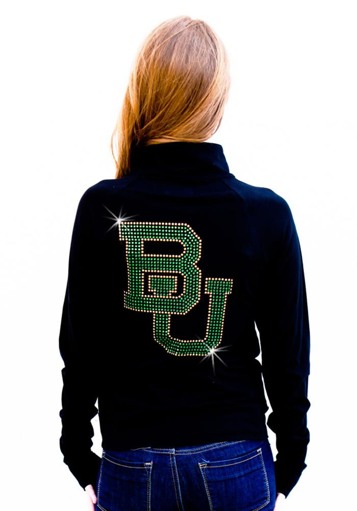 Gameday Couture Baylor Bears Juniors Black Cadet Long Sleeve Track Jacket - Image 2
