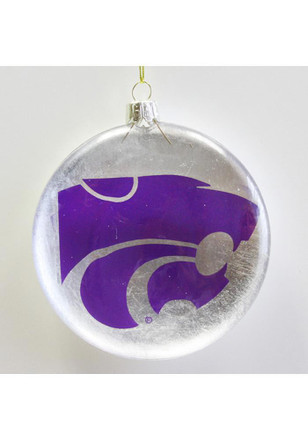 K-State Wildcats 4in Round Disk Ornament