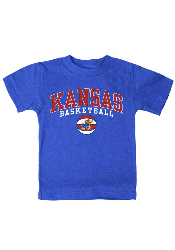 Kansas Jayhawks Toddler Blue Basketball T-Shirt