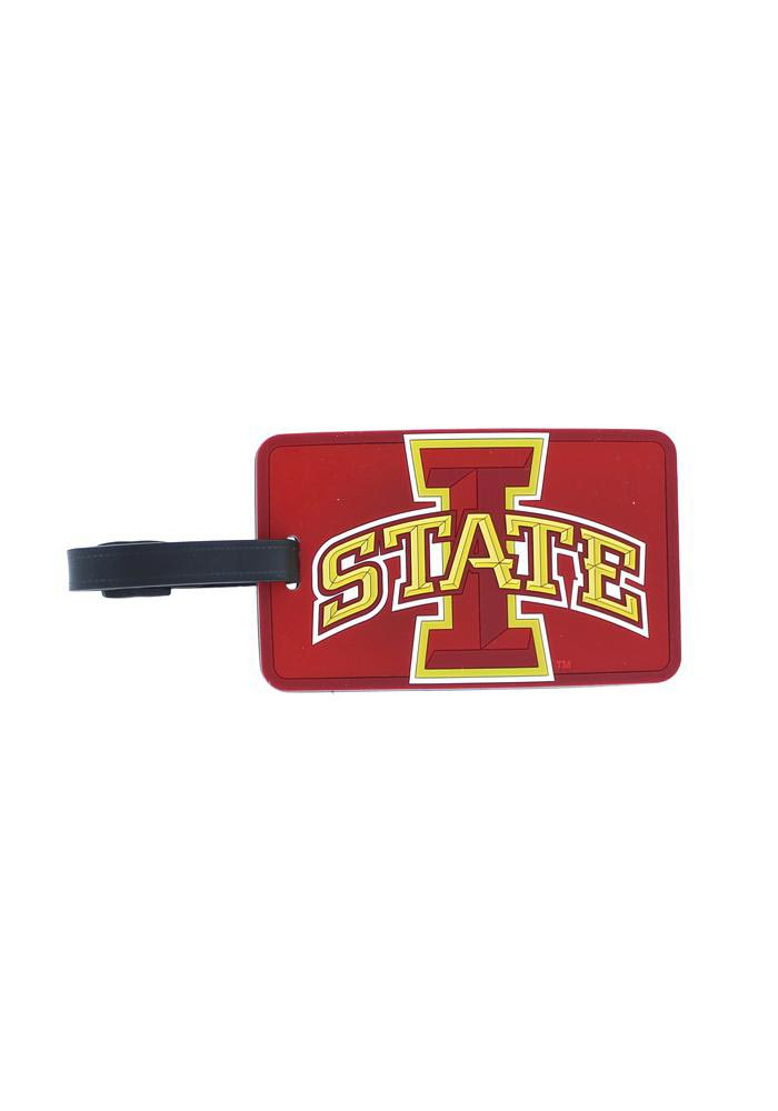 Iowa State Cyclones Maroon Rubber Luggage Tag - Image 1