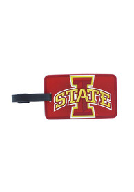 Iowa State Cyclones Rubber Luggage Tag - Maroon