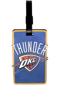 Oklahoma City Thunder Rubber Luggage Tag - Blue