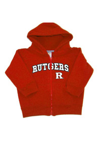 Rutgers Scarlet Knights Baby Arch Full Zip Sweatshirt - Red