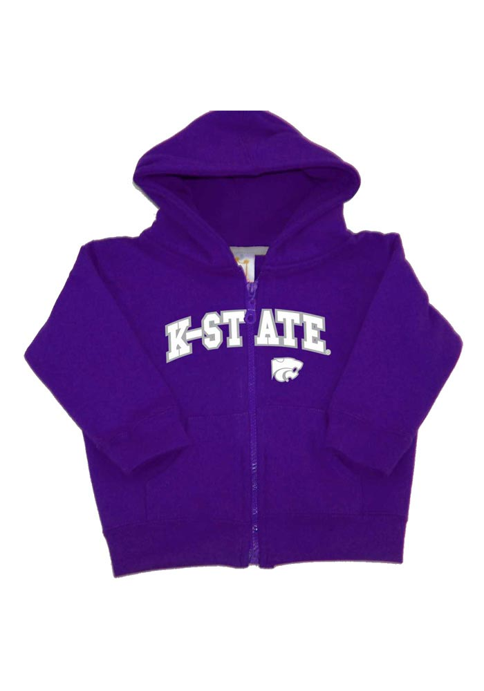K-State Wildcats Baby Purple Arch Long Sleeve Full Zip Jacket - Image 1