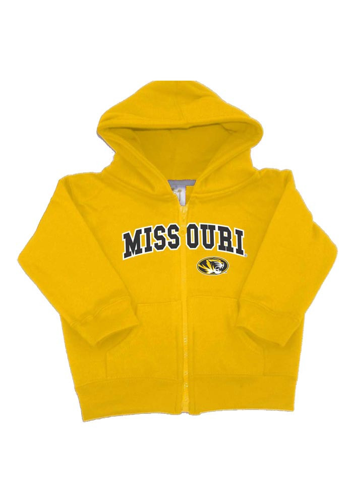 Missouri Tigers Toddler Gold Arch Long Sleeve Full Zip Jacket - Image 1