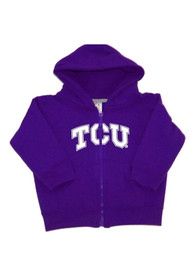 TCU Horned Frogs Toddler Arch Long Sleeve Full Zip Sweatshirt - Purple
