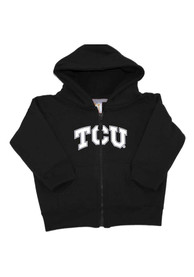 TCU Horned Frogs Toddler Arch Long Sleeve Full Zip Sweatshirt - Black