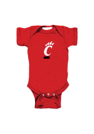 Cincinnati Bearcats Baby Red Embroidered Logo One Piece