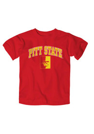 Pitt State Gorillas Toddler Red Arch Mascot T-Shirt