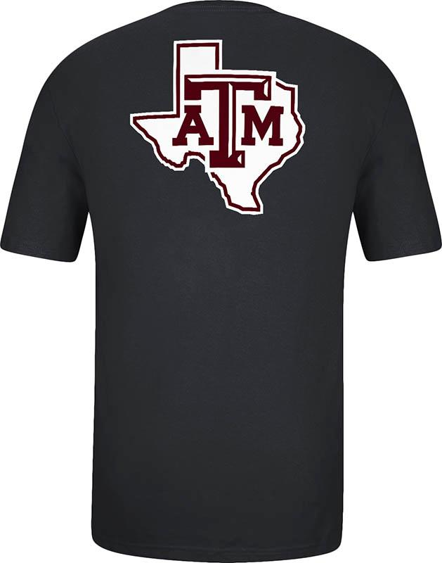 Adidas Texas AM Aggies Black GigEm Aggies Short Sleeve T Shirt - Image 3
