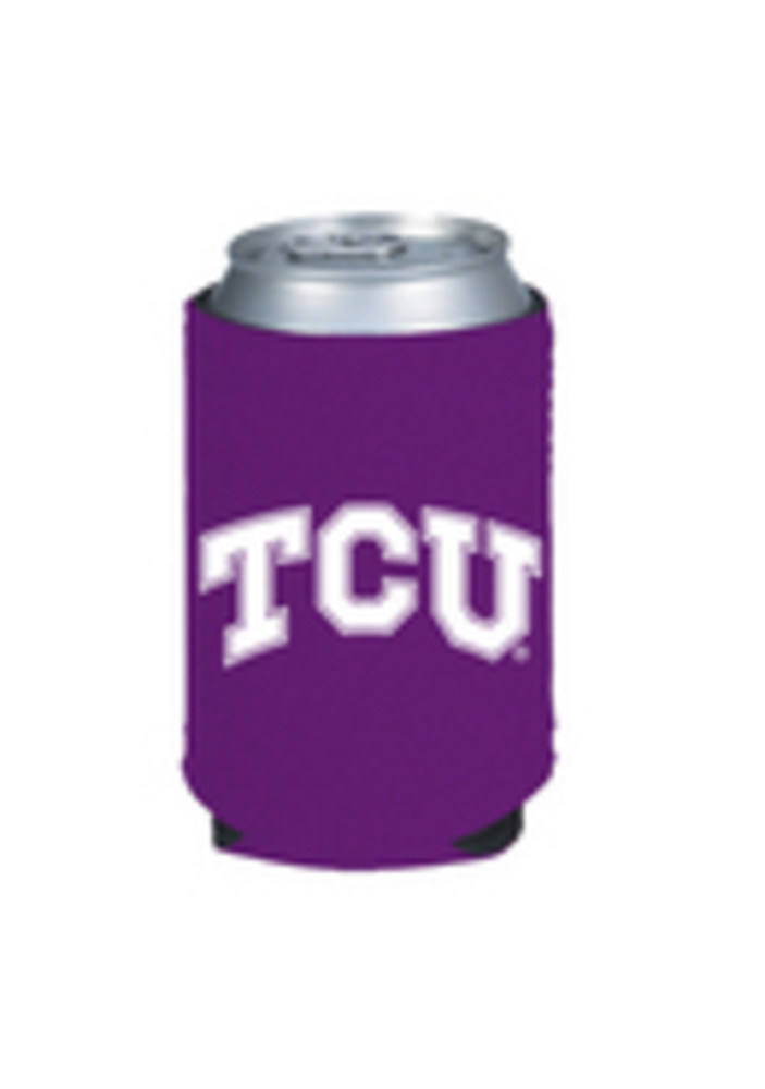 TCU Horned Frogs Purple Can Koozie - Image 3