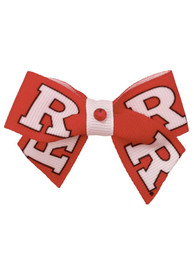 Rutgers Scarlet Knights Red and White Pet Bow