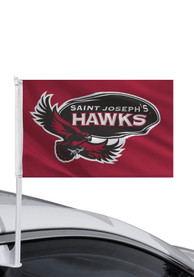 Saint Josephs Hawks 11x16 Car Flag - Maroon