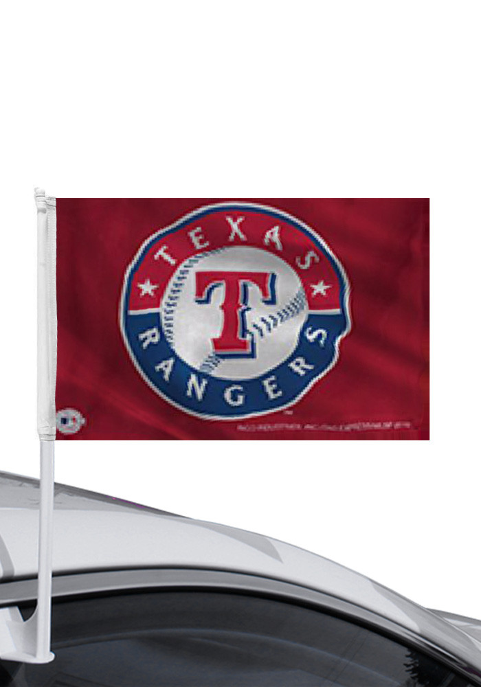 Texas Rangers 11x14 Red Car Flag - Image 1