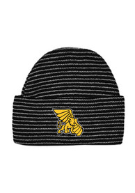 Missouri Western Griffons Striped Newborn Knit Hat - Black
