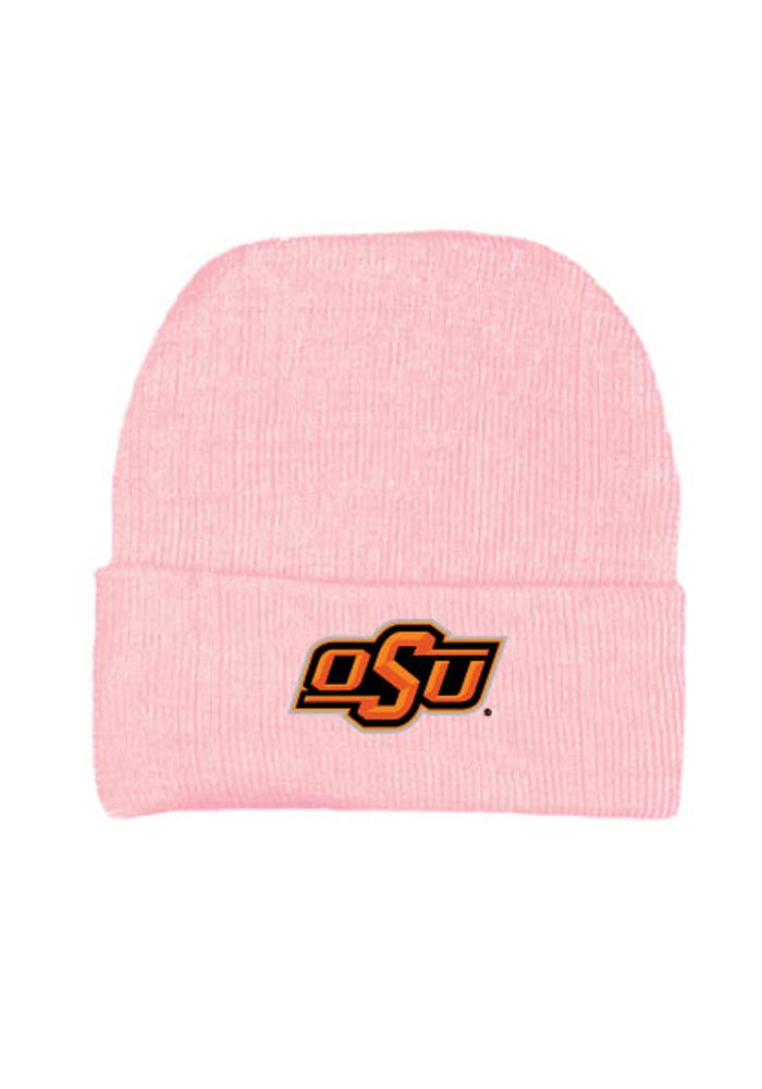 Oklahoma State Cowboys Pink Solid Newborn Knit Hat - Image 1