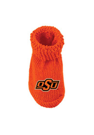 Oklahoma State Cowboys Baby Knit Bootie Boxed Set - Orange