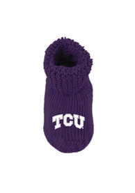 TCU Horned Frogs Baby Knit Bootie Boxed Set - Purple