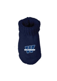 Washburn Ichabods Baby Knit Bootie Boxed Set - Navy Blue
