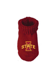 Iowa State Cyclones Baby Knit Bootie Boxed Set - Crimson