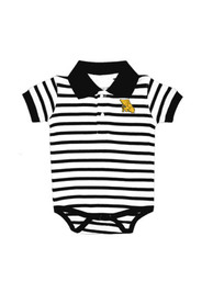 Missouri Western Griffons Baby Black Stripe Polo Polo One Piece