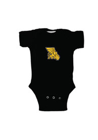Missouri Western Griffons Baby Black Embroidered Logo One Piece