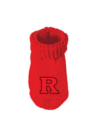 Rutgers Scarlet Knights Baby Knit Bootie Boxed Set - Red