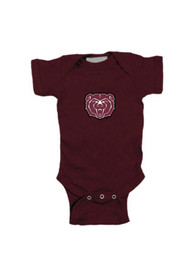 Missouri State Bears Baby Maroon Embroidered Logo One Piece