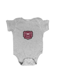 Missouri State Bears Baby Grey Embroidered Logo One Piece
