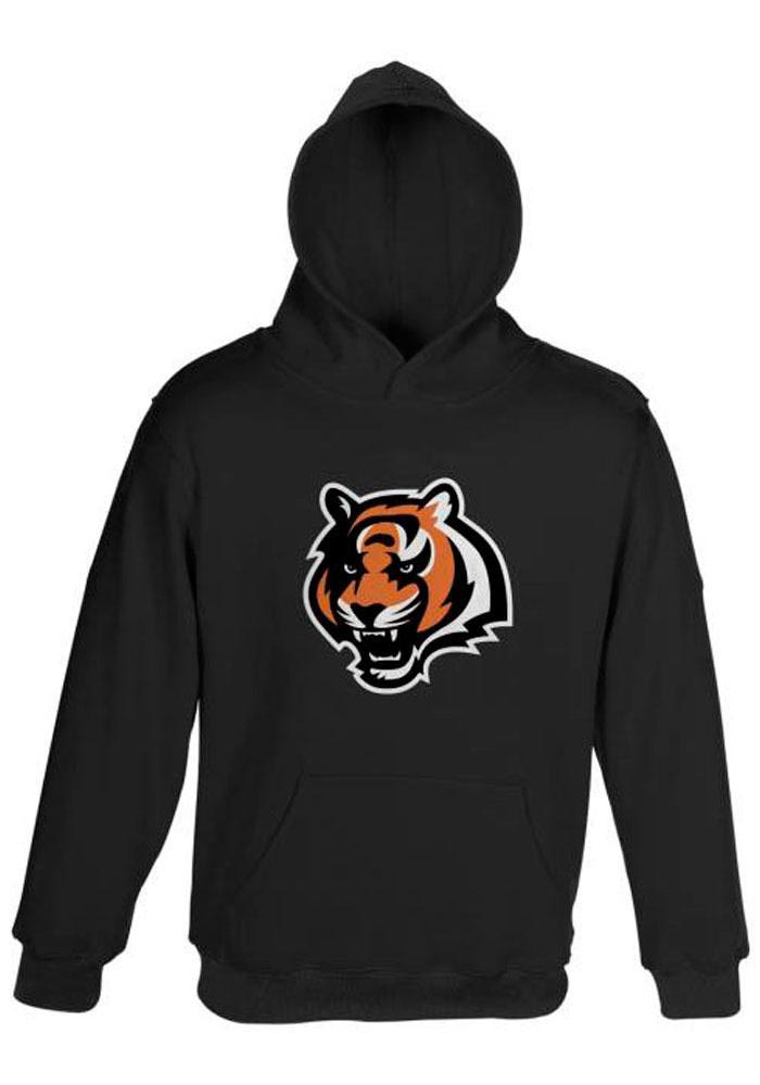Cincinnati Bengals Toddler Black Primary Logo Long Sleeve Hooded Sweatshirt - Image 1